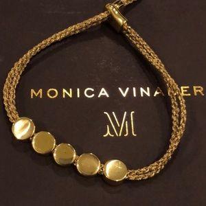✨ Monica Vinader Yellow Gold Linear Bead Bracelet
